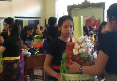 Sehari Sebelum Upacara Saraswati SMKN 3 Denpasar Selenggarakan Berbagai Lomba Has Bali