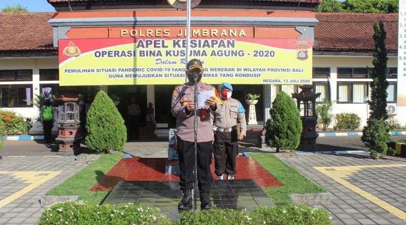 Polres Jembrana Gelar Apel Kesiapan Operasi Bina Kusuma Agung 2020