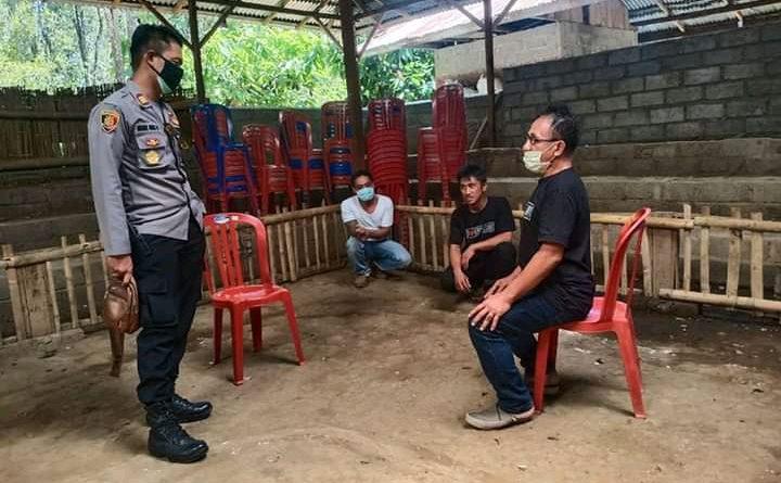 Kapolsek Banjar Tertibkan Judi Tajen Desa Banyuatis