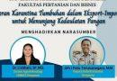 Webinar Fakultas Pertanian dan Bisnis Unmas Denpasar Diikuti 107 Peserta