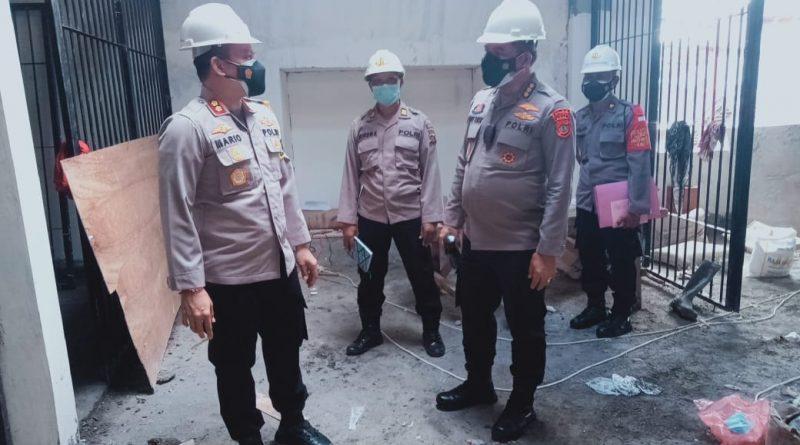 Kapolres Tabanan Dampingi Karo Rena Polda Bali Tinjauan Pembangunan Ruang Tahanan